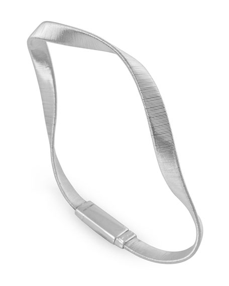 Marrakech Supreme 18k Twisted Bracelet, White Gold