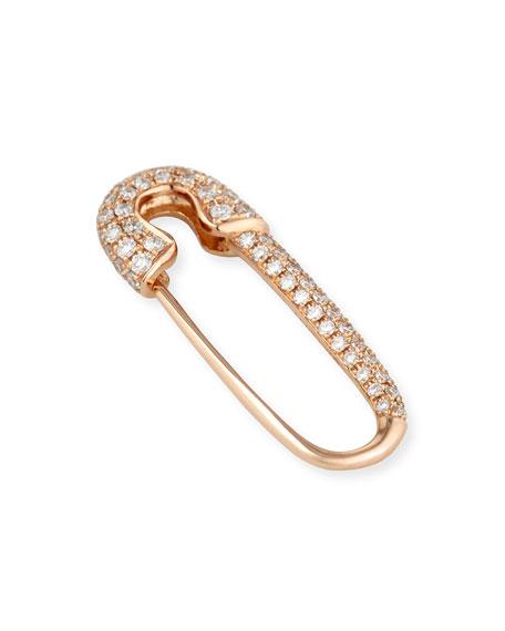 Anita Ko 18k Rose Gold Diamond Safety Pin Earring Neiman