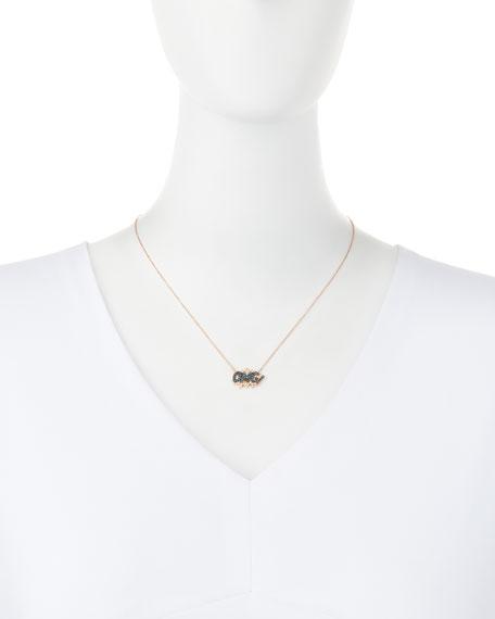 18K Rose-Gold OMG! Pop Art Pendant Necklace