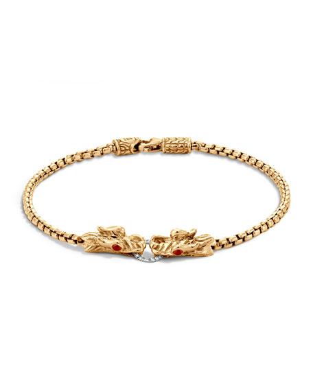 John Hardy Naga 18K Gold Box Chain Bracelet