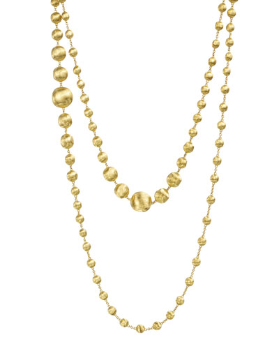 18K Gold Africa Necklace, 48