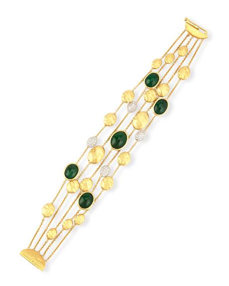 Unico 18K Gold Emerald & Diamond Bracelet