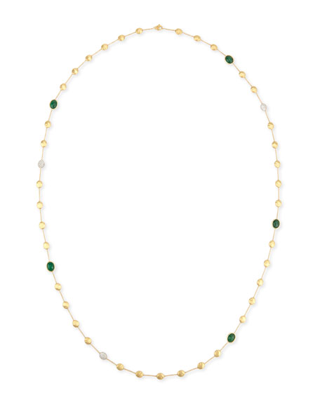 Marco Bicego Unico 18K Gold Emerald & Diamond