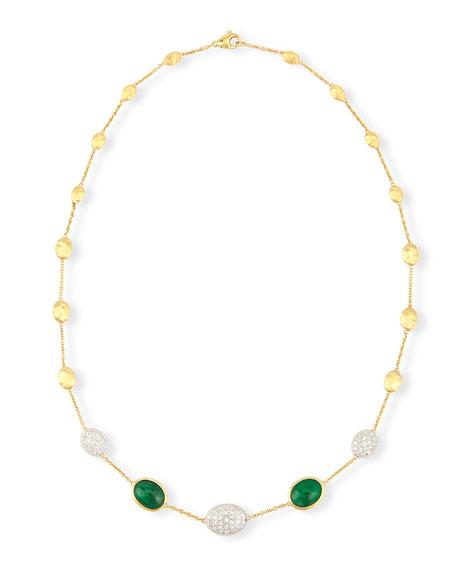 Marco Bicego Unico Center Station Emerald & Diamond Necklace