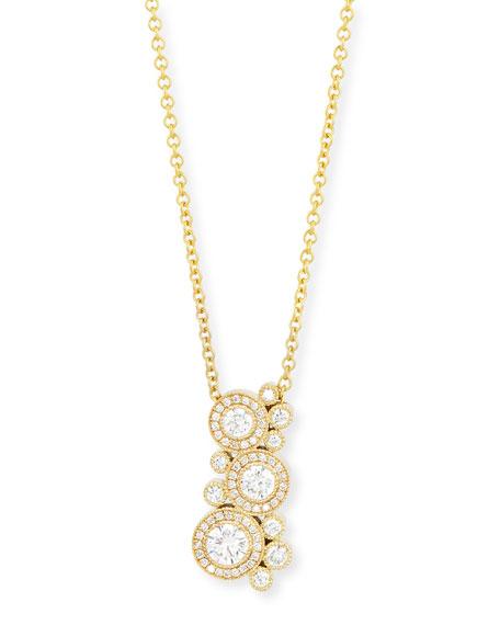 Rahaminov 18K Yellow Gold Diamond Bubble Necklace