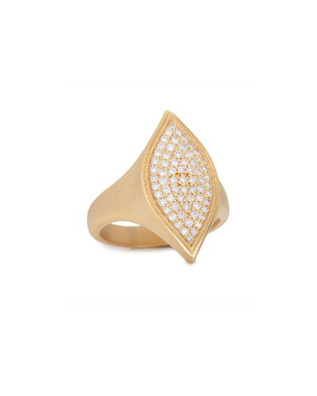 Becca Pavé Diamond Marquise Ring, Size 7