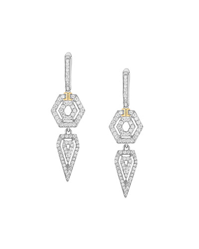 Montmartre Diamond Double-Drop Earrings