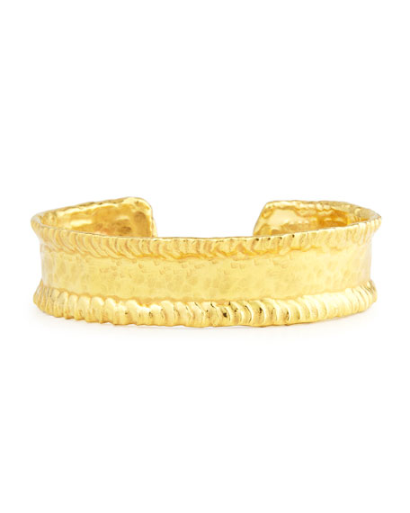 Jean Mahie 22K Yellow Gold Simple Cuff Bracelet