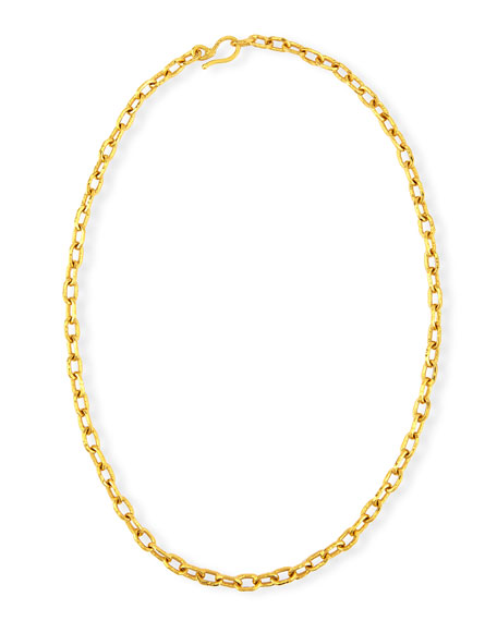 Jean Mahie Cadene 20 22K Yellow Gold Link Necklace