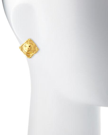 Jean Mahie Carrees 22K Yellow Gold Stud Earrings