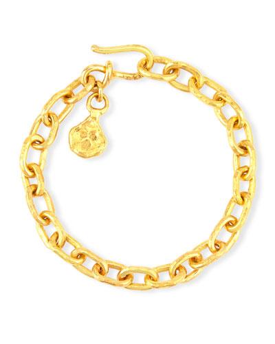 Cadene 22K Yellow Gold Charm Bracelet