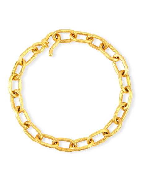 Jean Mahie Spiraled 22K Yellow Gold Bracelet
