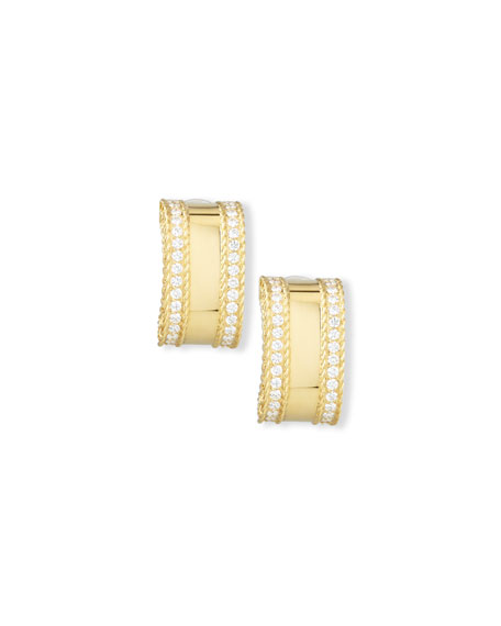 Roberto Coin Princess 18K Yellow Gold Diamond Bar Earrings