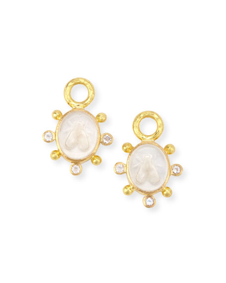 Elizabeth Locke 19K Mosca Charms for Earrings