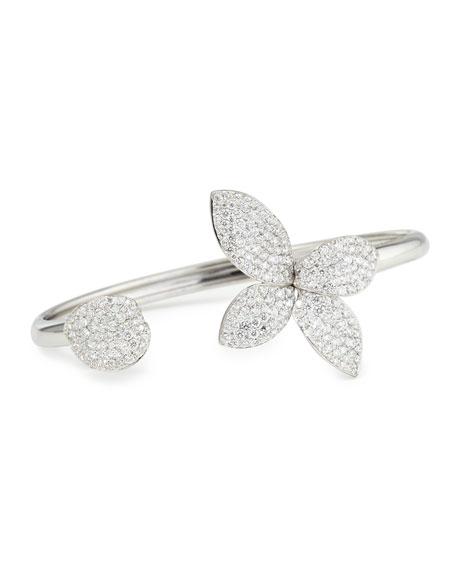 Giardini Segreti 18K White Gold Diamond Flower Bangle