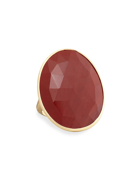 Marco Bicego Lunaria Faceted Jasper Cocktail Ring