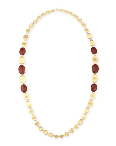 Lunaria Double Wave Red Jasper Necklace, 39.5