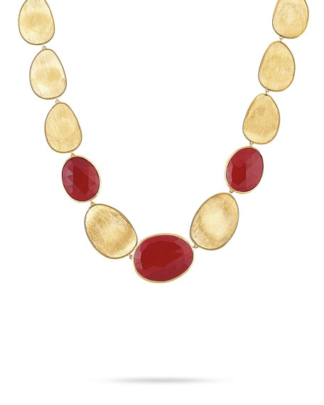 Lunaria Red Jasper Collar Necklace, 17.5