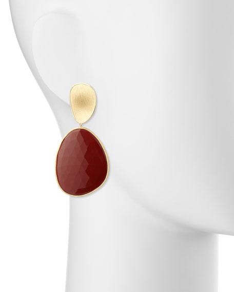 Marco Bicego Lunaria Red Jasper Single Drop Earrings