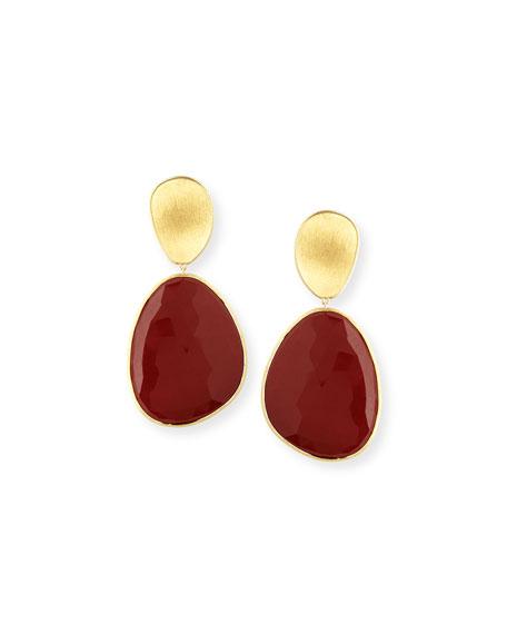 Lunaria Red Jasper Single Drop Earrings