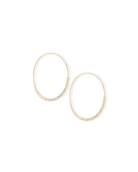 LANA Medium Expose Wave Magic Diamond Hoop Earrings