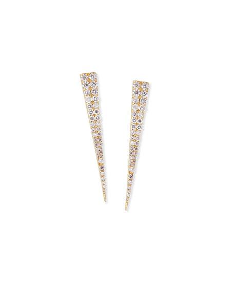LANA 14K Expose Spike Stud Earrings with Diamonds