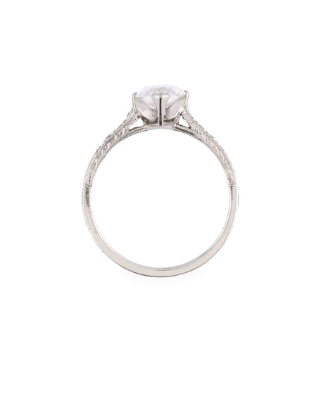 Estate Art Deco Marquise Diamond Engagement Ring, Size 6