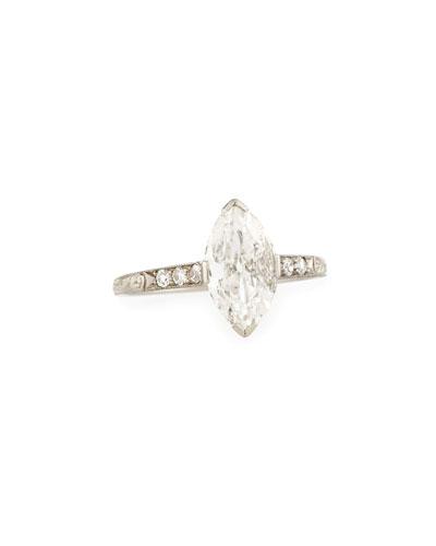 Estate Art Deco Marquise Diamond Engagement Ring, Size 6