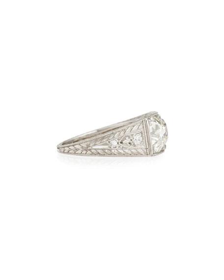 Estate Art Deco Two-Stone Diamond Ring, Size 7