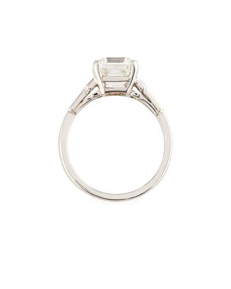 Estate Art Deco Asscher-Cut Diamond Engagement Ring, Size 6.5