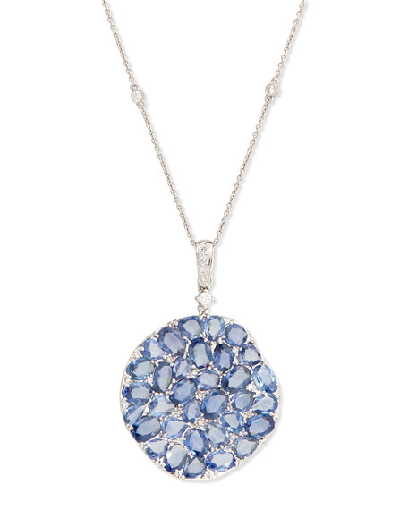 Signature Slice-Cut Sapphire & Diamond Pendant Necklace