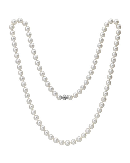 Single-Strand Akoya Pearl Necklace, 33""