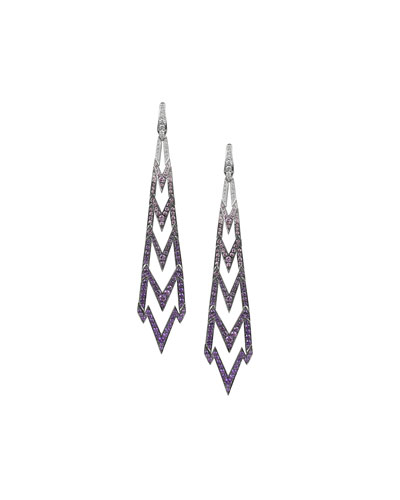 18K Lady Stardust Earrings in Ombre Purple