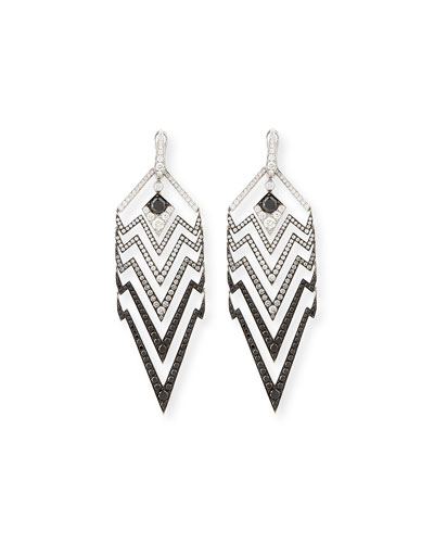 Lady Stardust Graduated Black & White Diamond Earrings