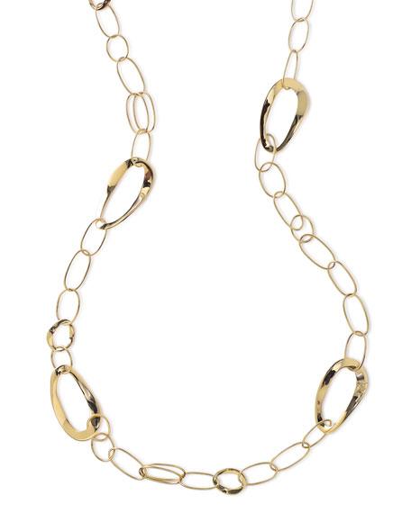 "18K Glamazon Cherish Chain Necklace, 40"""