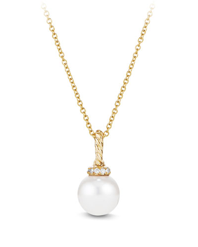 Solari 18K Gold & Pearl Pendant Necklace with Diamonds