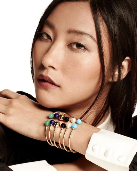 Solari 18K Gold & Freshwater Pearl Cuff Bracelet with Diamonds