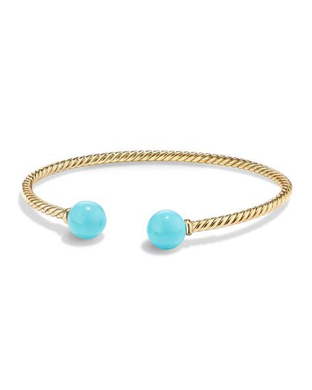 David Yurman Solari 18K Gold & Turquoise Cuff
