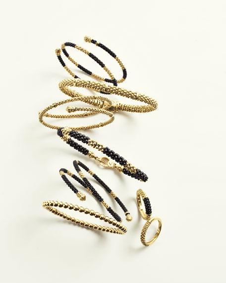 18k Gold Caviar Rope Bracelet, 6mm