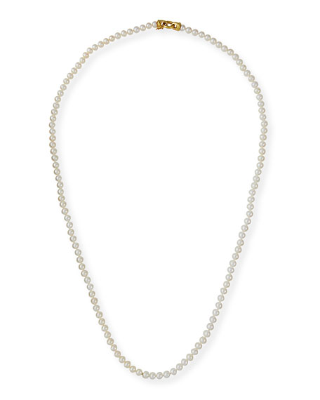 Serena Long Pearl Necklace, 35""