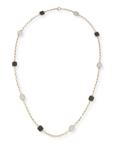 Vhernier Cardinale Black & White Diamond Chain Necklace