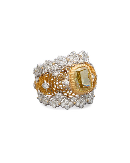 Tulle 18K Gold Canary Diamond Ring