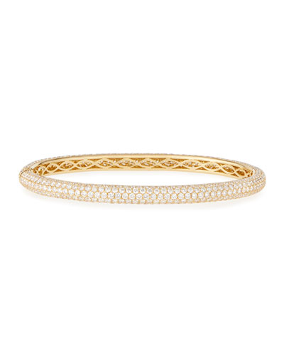 St. Moritz 18K Yellow Gold Bangle with Diamonds