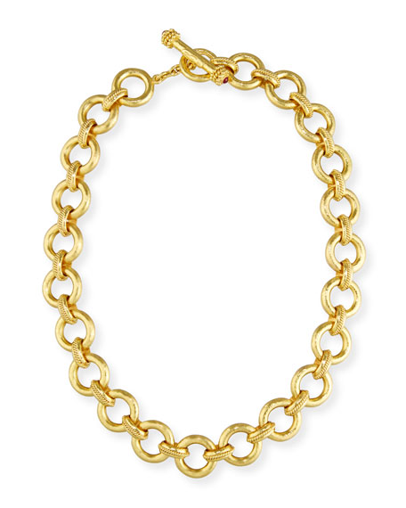 "19K Gold Ravenna Link Necklace, 17"""