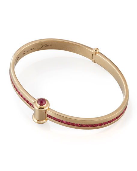 Stephen Webster 18K Yellow Gold I Promise to Love You Bangle with Rubies tNusBKdUpG