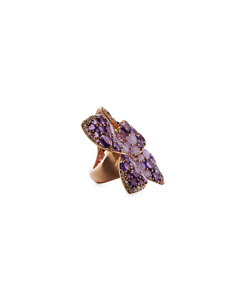 18K Rose Gold & Diamond Butterfly Wrap Ring