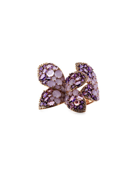 18K Rose Gold & Diamond Butterfly Wrap Ring