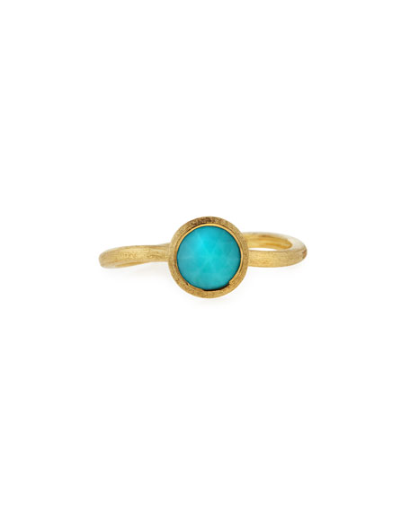 Image 1 of 2: Marco Bicego Jaipur Turquoise Stackable Ring, Size 6.5