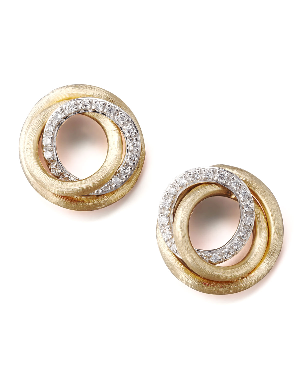 Marco Bicego Jaipur Diamond-Link Stud Earrings