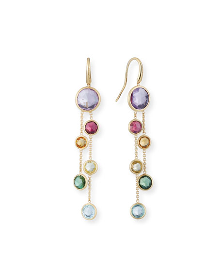 Marco Bicego Jaipur 18K Gold Mixed Stone Two-Strand Earrings